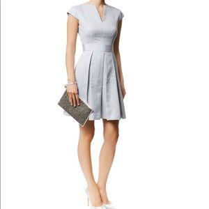 Ted baker denai blue pleat dress size 1 small